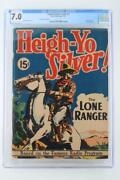 Large Feature Comic 3 - Cgc 7.0 Fn/vf -dell 1939- Lone Ranger 15 Cent Variant