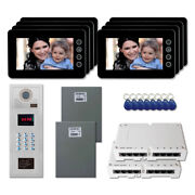New Apartment Door Security Video Intercom System Kit With 8 7 Color Monitor
