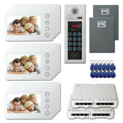 New Multi Tenant Door Entry Video Intercom System Kit With 12 5 Color Monitor