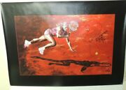 Beautiful Handsigned Painting Of Serena Williams By Michel Bell On Canvas
