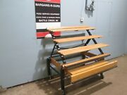 Cms Commercial H.d. Mobile Wooden Bakery/produce Merchandising Display Rack