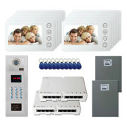 Building Entry Security Video Intercom System Kit With 10 5 Color Monitors