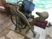 Antique American Made Exercise Bicycle Cast Iron.andnbsp Everlast Company