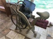 Antique American Made Exercise Bicycle, Cast Iron. Everlast Company