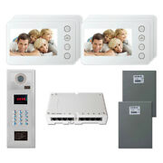 Building Home Unit Security Video Intercom System Kit With 6 5 Color Monitor
