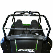 Clearly Tough Arctic Cat Wildcat Trail/sport Full Folding Windshield