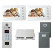 Home Entry Access Security Video Intercom System Kit With 2 5 Color Monitor