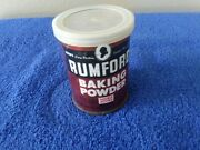 Small Rumford Baking Soda Metal Can With Plastic Lid 4oz.