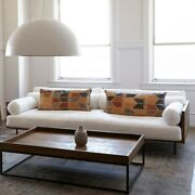 Brand New Hand Made Environment Killian Sofa W/ Embroidered Pillows - 70 Off