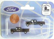 N Scale River Point Station Two Police 1992 F-250 Super Duty 4x4 Crew Cab Trucks