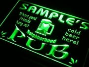Home Pub Neon Sign Name Personalized Custom Bar Beer Onoff Switch Mens Gift