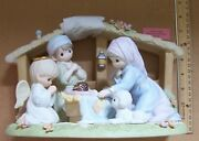 Precious Moments And039o Holy Nightand039 Porcelain Nativity 879428 Only 3000 Made New