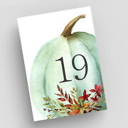 Pumpkin Table Numbers Autumn Wedding Table Cards Thanksgiving Table Decor