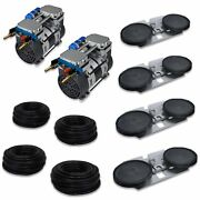 2 6.7 Cfm Pump Aeration Kit 400and039 Of Tubing 4 Double-10 Epdm Diffuser Disc