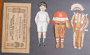 1940and039s Holsum Bread Dressing Dolls Rugby Indian
