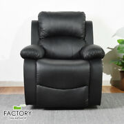 Pvc Leather Recliner Sofa Single Couch Lounge Chair Theater Seat Home Lay Back