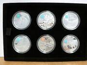Great Britain 2012 Silver Andpound5 The Mind Collection 6 Coin Proof Set W/ Box And Coa