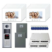 Apartment Door Security Video Intercom System Kit With 10 7 Color Monitors