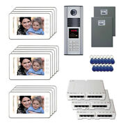 New Apartment Security Door Video Intercom System Kit With 13 7 Color Monitor