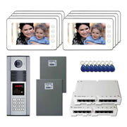 Apartment Access Door Entry Video Intercom Kit System With 8 7 Color Monitors
