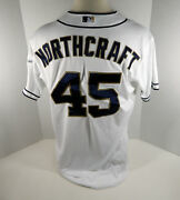 2015 San Diego Padres Aaron Northcraft 45 Game Issued White Jersey Sdp0146