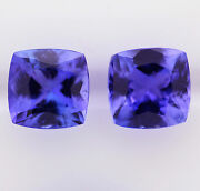3.56ct Natural Tanzanite Pair Expertly Faceted In Germany +cert Available