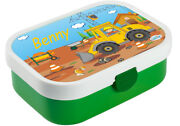 Lunch Box Mepal Campus With Bento Box And Fork And Own Name Lime/green