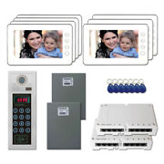 Building Entry Door Camera Video Intercom System Kit With 7 7 Color Monitor