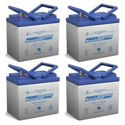 Power-sonic 12v 35ah Replacement Battery For Grasshopper 600 Lawn Mower - 4 Pack