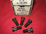 5 Vintage 1936-1963 Cadillac Chevy Kaiser Olds Willys Wheel Hub Lug Bolts,l-hand