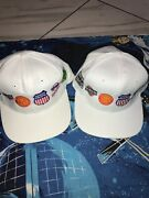 Lot Of 2 Union Southern North Western Pacific Hats Big Logos Mo Pac Mkt