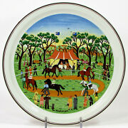 Villeroy And Boch Scenes Of Australia Country Races 9.25 Plate Narelle Wildman