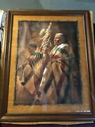Thunder Pipe And The Holy Man By Howard Terpning. Limited Edition Print. Signed.