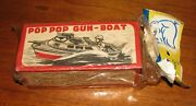 Rare Brand New Semi-sealed San 1960and039s Japan Tin Toy Pop Gun Boat 29c Lee Product