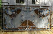 4-vintage Stained Glass Panels 23 X 49 Each