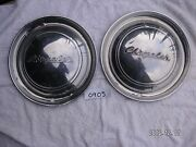 1949 Chrysler Full Disc Hub Caps 2 15 Small Dings Driver Quality  My0905sp