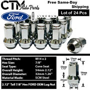 24 Ford Oem Factory Chrome 14x2 Lug Nuts For F-150/250/350 Expedition Excursion