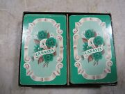 Vintage/antique Whitman Racine Wi Canasta Back Playing Cards 2 Decks W P Co