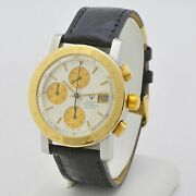 Girard Perregaux Chronograph 7000 Gbm Steel Gold 38 Mm Automatic Serviced