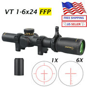 Sniper Vt1-6x24 First Focal Plane Ffp Rifle Scope With Illuminated Moa Reticle