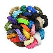 Inspirelle 1mm 28color Waxed Polyester Twine Cord Macrame Bracelet Thread For