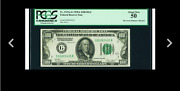 Gold Clause Whats Your Offer Fr 2151-g 100 1928a Dark Green Seal Pcgs 50 Au