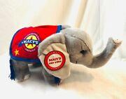 Macyand039s Thanksgiving Day Parade Stuffed Elephant Rare Holiday New In Pkg.