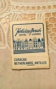 Vintage And Rare Holiday Beach Hotel Casino Willemstad Curacao Old Matchbook