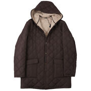 Nwt 6200 Cesare Attolini Quilted Parka With Cashmere Lining M Eu 50 Coat