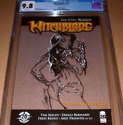 Witchblade 151 Campbell Variant Cgc 9.8 Top Cow 125 J Scott Sketch C Gray Grey