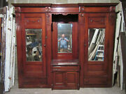 Antique Carved Oak Closet Front Built In Armoire Pantry 109 X 91 Salvage