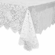 Lace Tablecloth For Rectangle Tables Wedding Party Decorations White 60x97 Inch