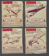 1952 Standard Brands Royal Canadian Air Force Planes Trading Cards Lot Of 8/16