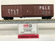 Micro Trains Box Car Pittsburgh And Lake Erie N Scale P And Le Brown Boxcar 25290